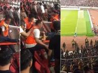 CĐV Indonesia tấn công CĐV Malaysia gây bạo loạn trên sân Bung Karno