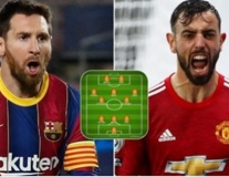 Đội hình kết hợp Premier League - La Liga: Hàng thủ trong mơ, Bruno - Messi sát cánh