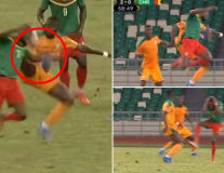 Sao Man Utd tung cú kungfu, tặng cho Cameroon quả penalty