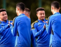 Lingard dạy Ronaldo ăn mừng, sân tập M.U đón viện binh cực chất