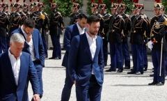 Tuyển thủ Pháp gặp Tổng thống với những gương mặt buồn