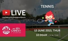 Trực tiếp SEA Games 28 ngày 12/6: Môn quần vợt
