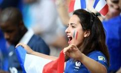 Những fan nữ xinh đẹp tiếp lửa cho Pháp đánh bại Đức