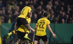 Chùm ảnh: Dortmund hạ gục 'chú ngựa ô' đến từ giải hạng 3