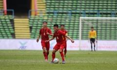 TRỰC TIẾP U22 Việt Nam 4-1 U22 Campuchia: U22 Việt Nam dính phạt đền (Hiệp 2)