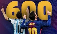Thống kê siêu khủng 600 bàn thắng của Messi