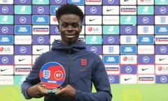 'Thần đồng' Arsenal xuất sắc giành MOTM ở lần thứ 2 ra sân cho tuyển Anh