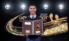 Vượt Messi, Ramos, Lewandowski; Ronaldo rạng rỡ khoe giải thưởng Bàn chân vàng