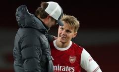 Liverpool giã nát Arsenal, Klopp lập tức làm 1 điều với Odegaard