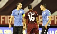 Uruguay nối tiếp chuỗi thất vọng trên sân Venezuela