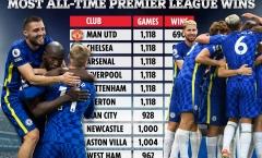 Top 10 CLB thắng nhiều nhất kỷ nguyên NHA: Chelsea chỉ đứng thứ 2