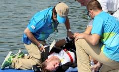 VĐV Olympic bất tỉnh do bất cẩn khi về đích