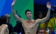 Những khoảnh khắc xúc động của Michael Phelps ở Olympic 2016