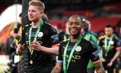 Sterling: 'Man City sẽ giành cú ăn ba mùa này!'