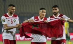 Kịch tính vỡ òa phút cuối, Morocco hạ gục Nam Phi giành vé đi tiếp