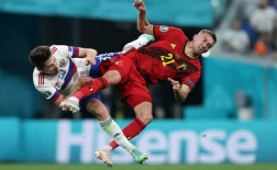 Ngay sau vụ Eriksen, máu đổ trên mặt sao tuyển Bỉ u sầu chia tay EURO
