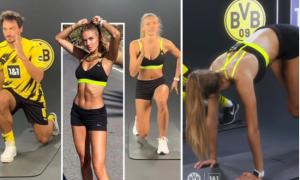 Cầu thủ Dortmund bị hớp hồn bởi nữ VĐV quyến rũ nhất thế giới