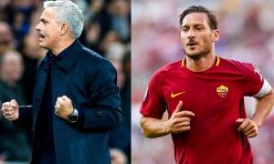 Mourinho gây bão AS Roma bởi lời nói với huyền thoại Totti
