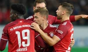 Dính thẻ đỏ ngay đầu hiệp 2, Bayern vẫn ca khúc khải hoàn
