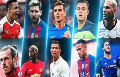 Top 50 cầu thủ hay nhất thế giới: Ronaldo chỉ xếp thứ 8?