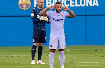 Depay ghi bàn, Barcelona thắng trận thứ 2 liên tiếp