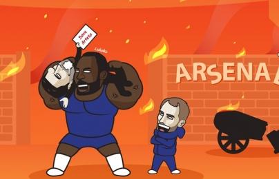 Cười té khói với loạt ảnh chế Chelsea thắng Arsenal