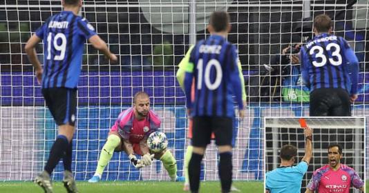 10 người, 1 thẻ đỏ; Man City hòa như thua trước Atalanta | Bóng Đá