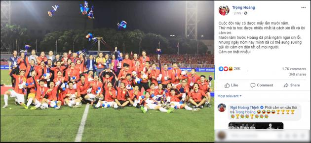 Trọng Hoàng nói ruột gan về trận Chung kết SEA Games sau 10 năm - Bóng Đá